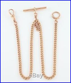 Antique 9Ct Rose Gold Double Albert Watch Chain / Necklace