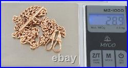 Antique 9Ct Rose Gold Graduated Double Albert Watch Chain / Necklace 17 Inches