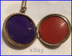 Antique 9ct Engraved Gold Locket On Fine 9ct Gold Chain
