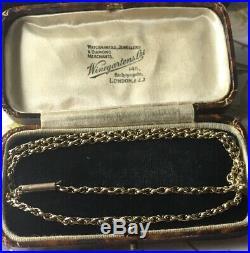 Antique 9ct Gold Belcher Chain 17 Chain 9 Carat 17 Inch Gold Chain Sale Price