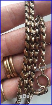 Antique 9ct Gold Double Belcher Chain Necklace 18 Inch 9 Carat 14.7g
