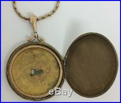 Antique 9ct Gold Locket And 16 Inch Gold Chain Hallamrked 1912