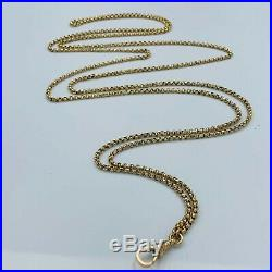 Antique 9ct Gold Muff/Guard Chain Victorian Edwardian Faceted Links 21.2g # 829