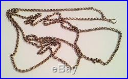Antique 9ct Gold Muff Guard Chain Victorian/Edwardian Jewellery Belcher Links