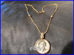 Antique 9ct Gold Photo/Picture Locket & Ornate Early RG Chain, Birm, 1914
