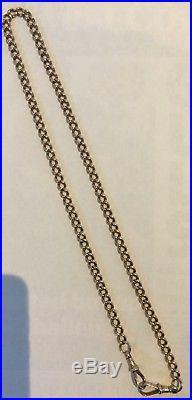 Antique 9ct Rose Gold Watch Chain Necklace C1900 Stylish & Elegant