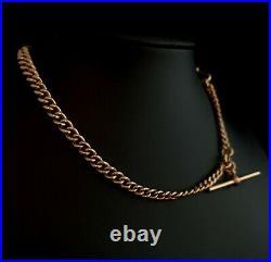 Antique 9ct Rose gold Albert chain, watch chain, Victorian