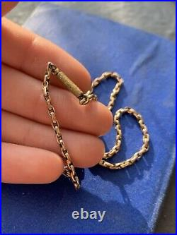 Antique 9ct Yellow Gold Barrel Clasp Chain Necklace