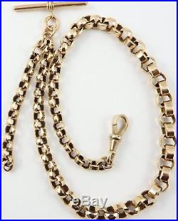 Antique 9ct gold Victorian albert watch guard chain 28.1 grams 16.5 inches long