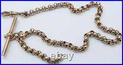 Antique 9ct yellow gold albert, pocket watch guard chain 14 inch Weighs 20 grams