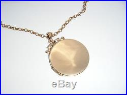 Antique Edwardian 9ct Gold Double Sided Picture Locket & Chain -8.4g-Hallmarked