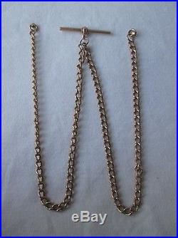 Antique Edwardian 9ct Gold Watch Albert Chain