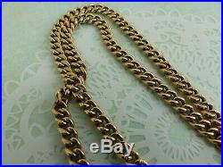 Antique Edwardian 9ct Rose Gold Double Albert Watch Chain 15 3/4'' 29 grams