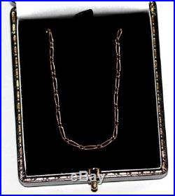 Antique Edwardian push clasp 9 ct gold 17.5 necklace chain necklace