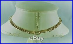 Antique Estate 9ct Rolled Gold G F Albert Pocket Watch Chain Necklace C 1900