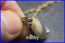 Antique Georgian/Victorian Turquoise Pendant/Charm/Necklace w 9ct Gold Chain