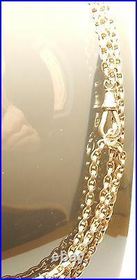 Antique Gold Long Guard Chain Rose 60 9 Carat