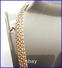 Antique Gold Long Guard Chain Rose 60 9 Carat 33.3 grams