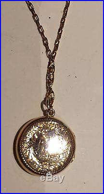 Antique Rose Gold Locket And 9ct Gold Chain