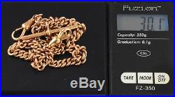 Antique Solid 9Ct Gold Graduated Double Albert Watch Chain c 1880's, 30.1g