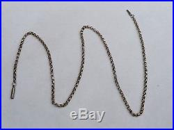 Antique Solid 9ct Gold 19 Inch Belcher Link Chain Necklace 5.8 Grams