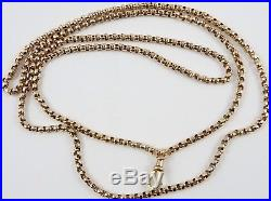 Antique Victorian 32 inch long 9ct gold guard chain Weighs 15.9 grams