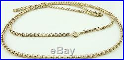 Antique Victorian 38 inch long full length 9ct gold watch guard chain 14.7grams