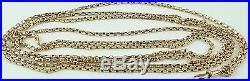 Antique Victorian 62 inch long 9ct gold guard chain Weighs 25.8 grams