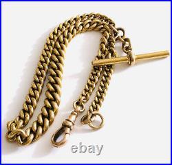 Antique Victorian 9 Ct Gold Albert Watch Chain 45 Grams