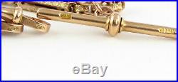 Antique Victorian 9Ct Gold Fancy Link Double Albert Dress Watch Chain, 21.8g