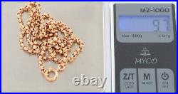 Antique Victorian 9Ct Rose Gold Belcher Link Chain Necklace 19 1/4'