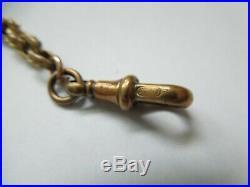Antique Victorian 9ct Gold Albert Chain Fancy Link