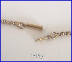 Antique Victorian 9ct Gold Barrel Clasp Belcher Necklace Chain 5 grams