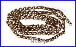 Antique Victorian 9ct Gold Curb / Belcher Chain. Needs Clasp & Loop
