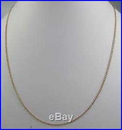 Antique Victorian 9ct Gold Curb Link Chain Necklace Barrel Clasp 50cm 3g