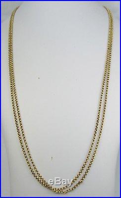 Antique Victorian 9ct Gold Double Fancy Chain Necklace Swivel Clasp 74cm 10g