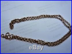 Antique Victorian 9ct Gold Fancy Link Belcher Necklace Chain heavy 10.8g