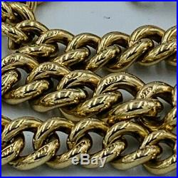 Antique Victorian 9ct Gold Graduated Link Albert Watch Chain Bracelet 9 #540