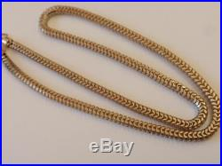 Antique Victorian 9ct. Gold Snake Link Chain C. 1870