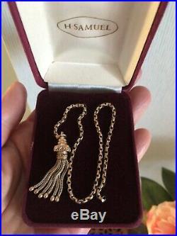 Antique Victorian 9ct Gold Tassel For Albertina Pocket Watch Chain Pendant