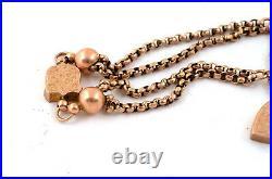 Antique Victorian 9ct Rose Gold Albertina Pocket Watch Chain Bracelet Repair