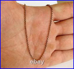 Antique Victorian 9ct Rose Gold / Belcher Necklace Chain / 8.1 grams / 24 inch