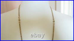 Antique Victorian 9ct Rose Gold Faceted Ring & Ball Chain Necklace 15.1 Grms
