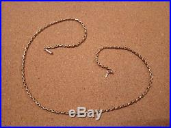 Antique Victorian 9ct gold belcher chain 19 long, 7gms