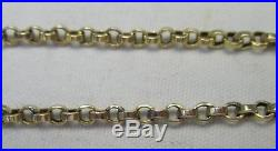 Antique Victorian Chunky 9ct Gold Belcher Chain Necklace 46cm 7.3g