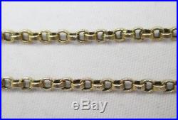 Antique Victorian Chunky 9ct Gold Belcher Chain Necklace Barrel Clasp 48cm 7.5g