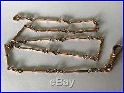 Antique Victorian Edwardian 1900s 9 ct gold fancy link chain. Short 13