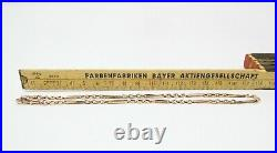 Antique Victorian HM Solid 9ct Gold Fancy Single Albert Watch Chain Necklace