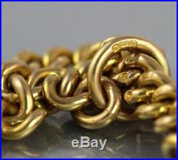 Antique Victorian Heavy Solid 9Ct Gold Double Albert Watch Chain 45g