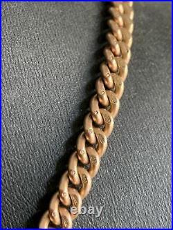Antique Victorian Solid 9ct Rose Gold Albert Watch Chain 51.6g